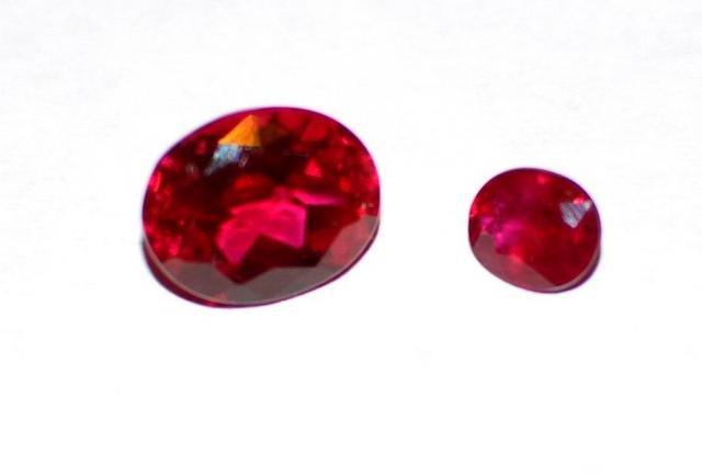 Gemstones, ruby, sapphire. - 2
