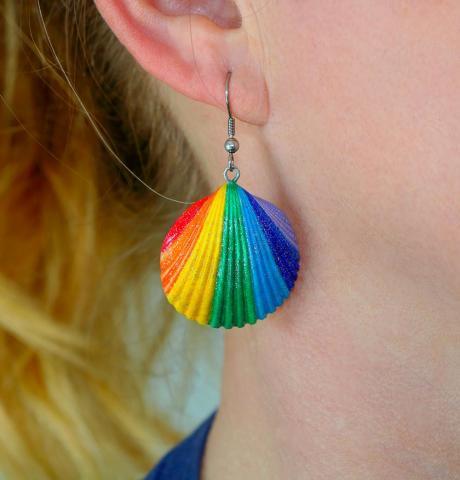 Ohrringe aus echten Muscheln. - 1
