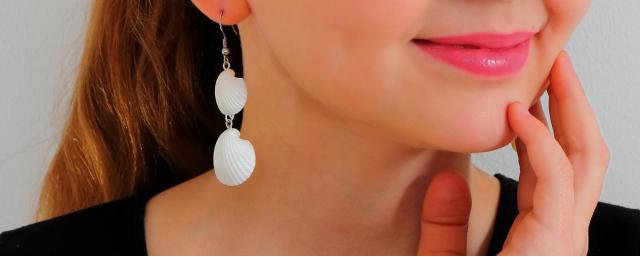 Ohrringe aus echten Muscheln. - 2