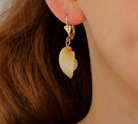 Ohrringe aus echten Muscheln. - 3