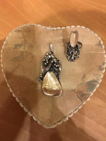 Продам комплект кольцо и кулон - 1