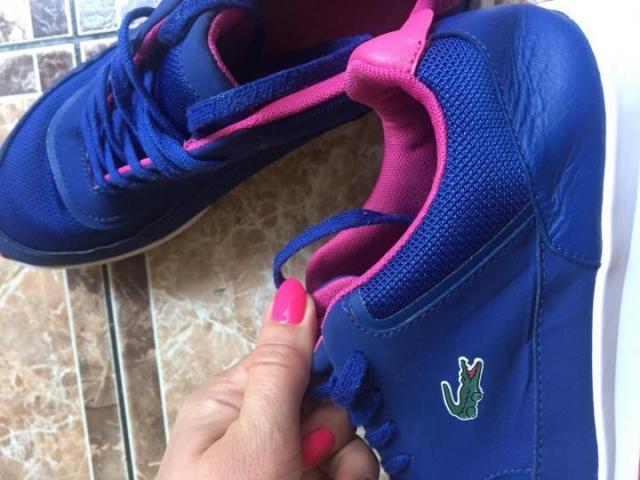 Продам Оригинальные кожаные кроссовки Lacoste - 3