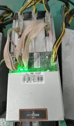 On Sale Bitmain Antminer S9 13.5 TH / s Bitcoin ASIC Miner with Power Supply - 1
