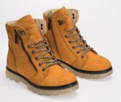 Зимние ботинки,натуральный нубук и мех