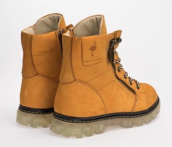 Зимние ботинки,натуральный нубук и мех - 3