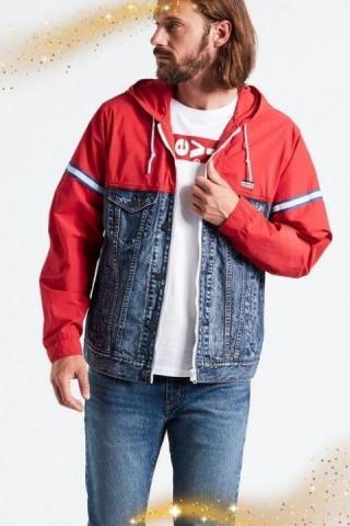 Продам новую комбинированную куртку бренда Levi's. - 1