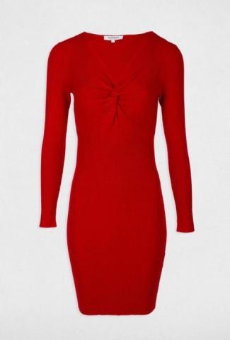 Трикотажное красное платье французской марки Morgan - 2