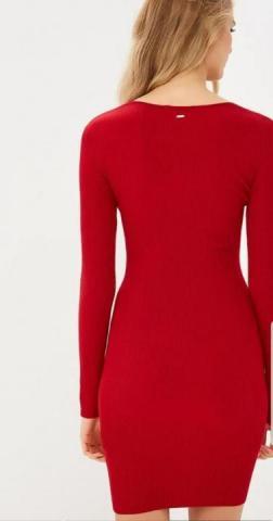 Трикотажное красное платье французской марки Morgan - 3