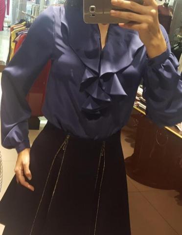 Продам шёлковую блузу Cristina Veroni, Italy - 3
