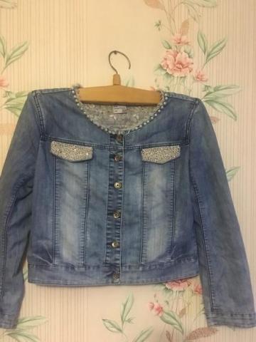 Продам джинсовый пиджак - 1