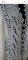 Кардиган/жилет пуховый белый кружевной - Изображение 1