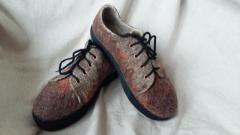 Обувь из шерсти ручной работы