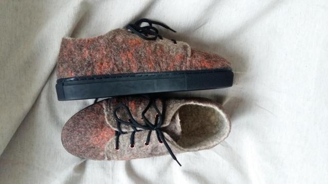 Обувь из шерсти ручной работы - 4
