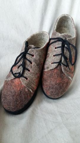 Обувь из шерсти ручной работы - 5