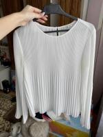Продам плиссированная белая блузка - Изображение 1