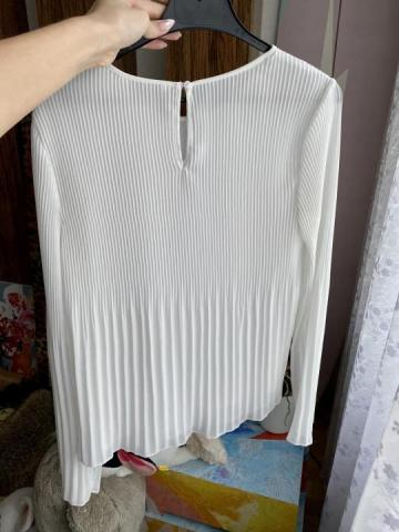 Продам плиссированная белая блузка - 4