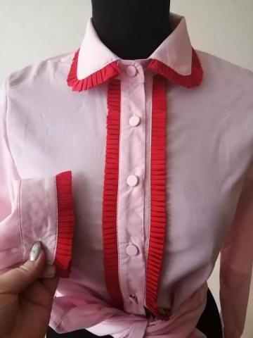 Продам  новую розовую блузку Шанель - 1