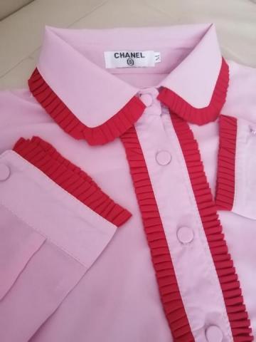 Продам  новую розовую блузку Шанель - 3