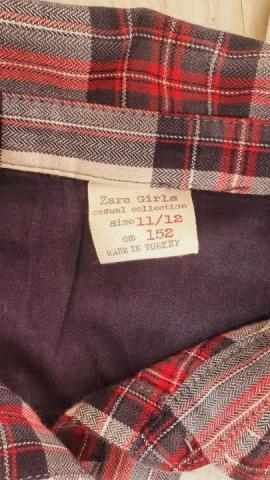 """Продам """"Zara"""", рубашка в клетку - 4"""