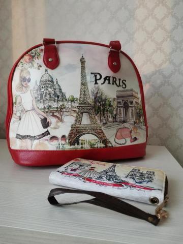 Комплект из сумки и кошелька - 3