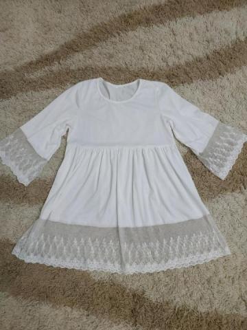 Пляжное белое платье туника - 1
