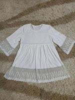 Пляжное белое платье туника