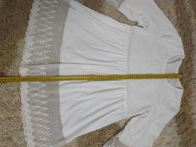 Пляжное белое платье туника - 2