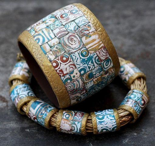 Продам браслеты и украшения  из полимерной глины в Европе - 1