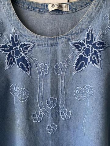Продам в идеальном внешнем состоянии фирменную джинсовую футболку - 1