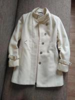 Продам белое пальто демисезонное . - Изображение 1