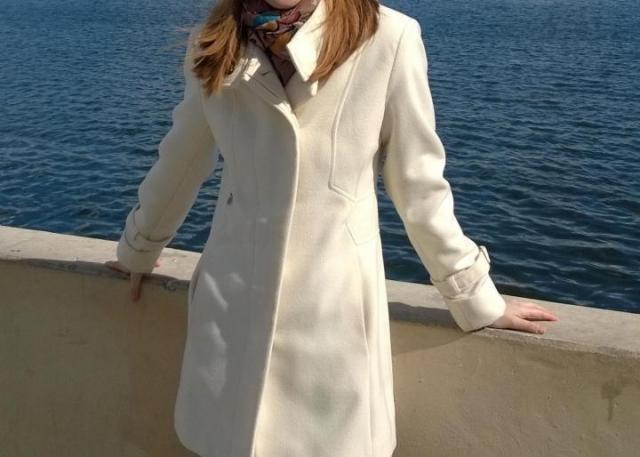 Продам белое пальто демисезонное . - 5