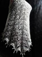 Шаль косынка вязанная спицами - Изображение 1