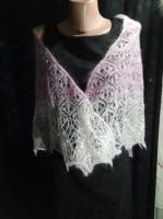 Ажурная тёплая вязанная спицами шаль - Изображение 3
