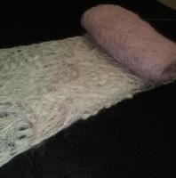 Ажурная тёплая вязанная спицами шаль - Изображение 4