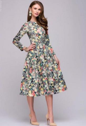 Продам  осеннее платье вечернее в Европе - 1