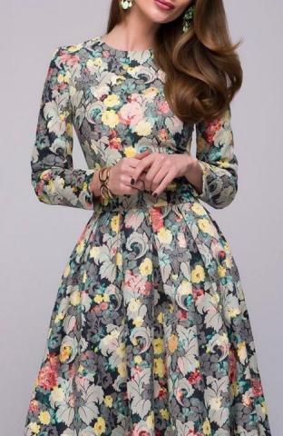 Продам  осеннее платье вечернее в Европе - 3