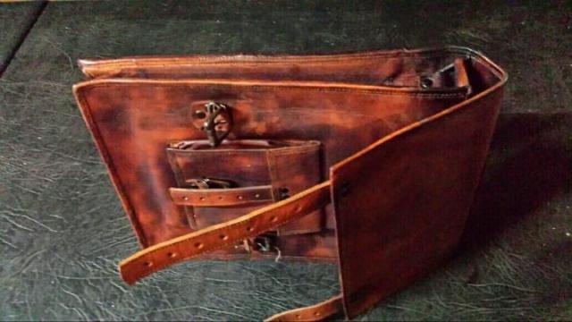 Продам новую кожаную сумку  в Португалии - 1