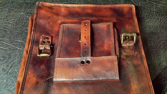 Продам новую кожаную сумку  в Португалии - 4