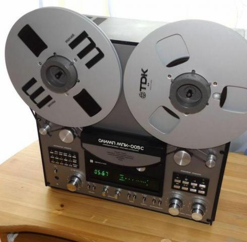 Катушечный стерео магнитофон Олимп серия 005С - 1