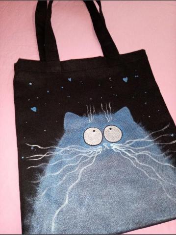 Сумка-шопер Синий кот - 1