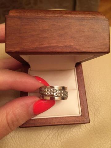 Кольцо новое, серебро в Польше - 2