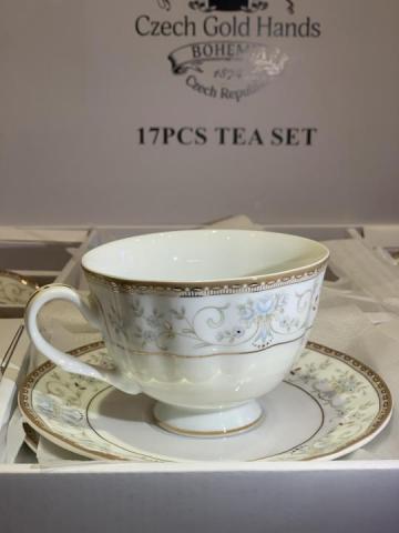 Продам  Сервиз чайный голубой ситец в Европе - 3