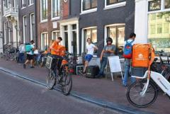 Курьер по доставке еды  в Нидерландах