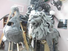 workshop decorative creatures fantastic animal figures decorations for street theaters