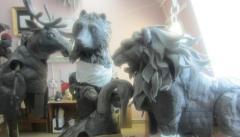 workshop decorative creatures fantastic animal figures decorations for street theaters - Изображение 3
