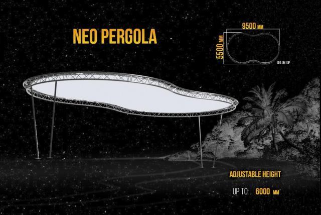 Pergola, A Canopy For Parking Lots, Bars, Verandas - 3