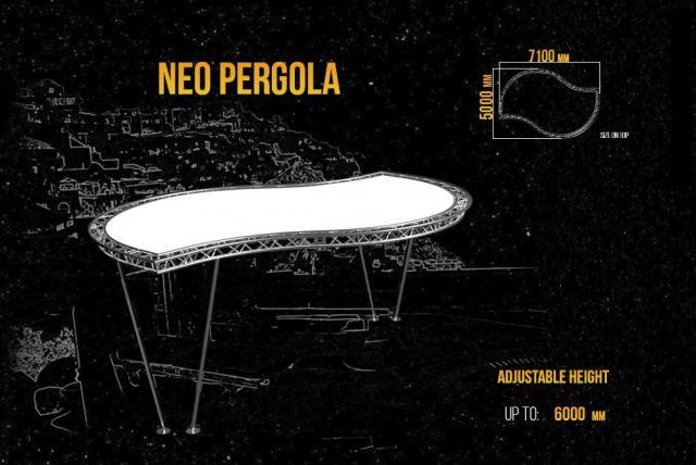 Pergola, A Canopy For Parking Lots, Bars, Verandas - 4