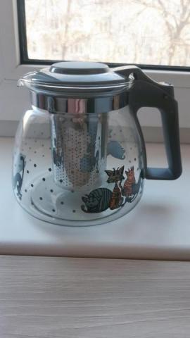 Продам заварочный стеклянный чайник, - 1