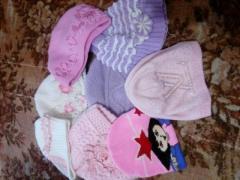 Продам шапки детские, разные