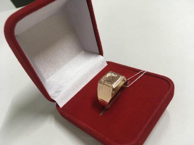 Продам мужское золотое кольцо печатку - 1